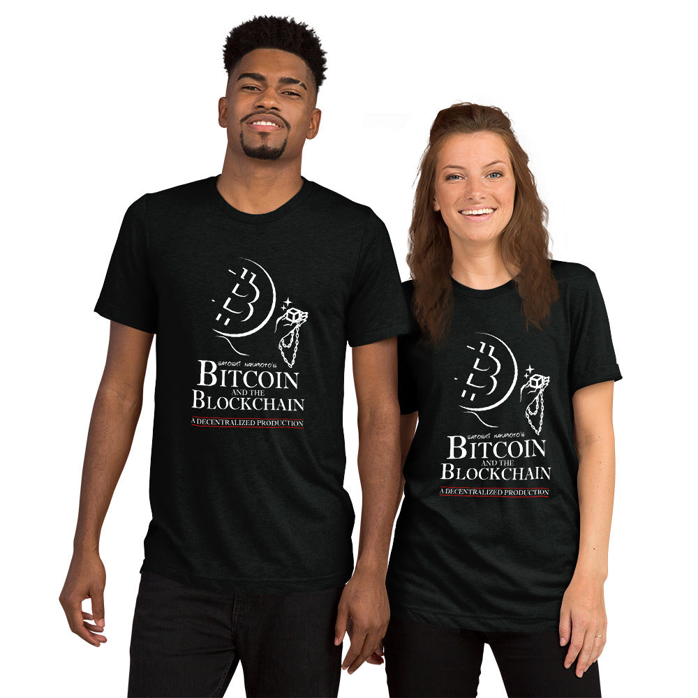 Bitcoin and the Blockchain Unisex Short sleeve t-shirt