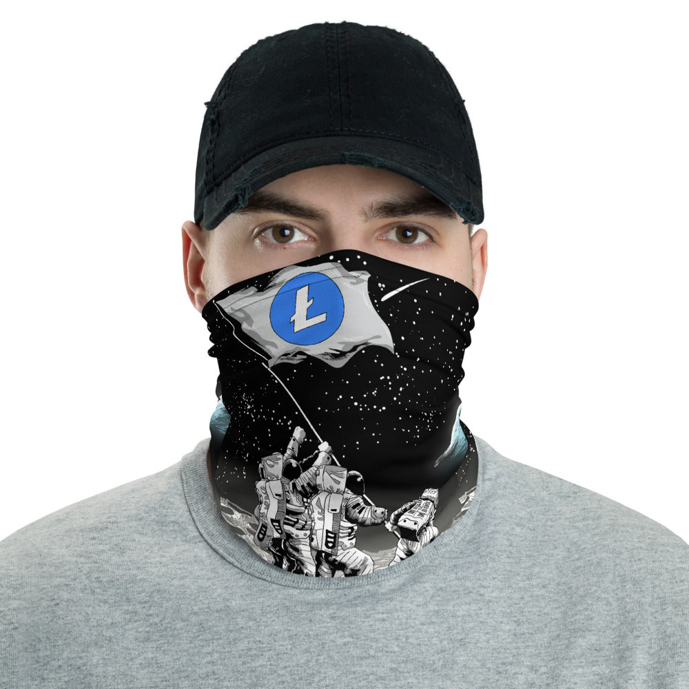 Litecoin to the Moon Neck Gaiter
