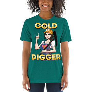 "Bitcoin Miner ""Gold Digger"" Unisex Short sleeve t-shirt"