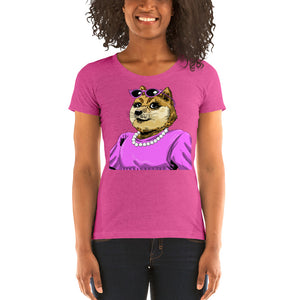 DogeMama Ladies' Fitted short sleeve t-shirt