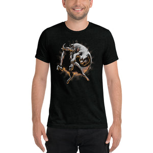 Market Battle: Bull & Bear Yin Yang Short sleeve Unisex t-shirt