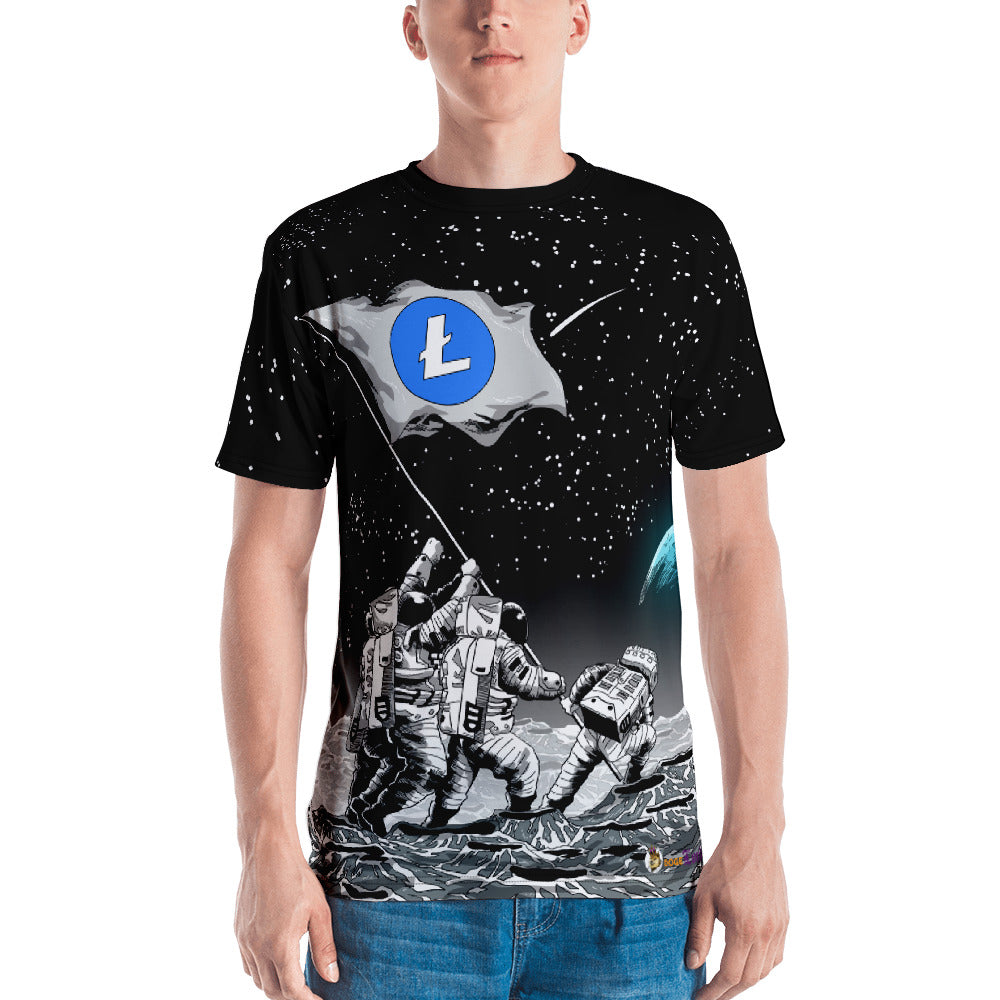 Litecoin to the Moon! All Over Print Short sleeve Unisex T-shirt