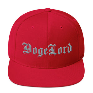 DogeLord Gray Embroidered Snapback Hat