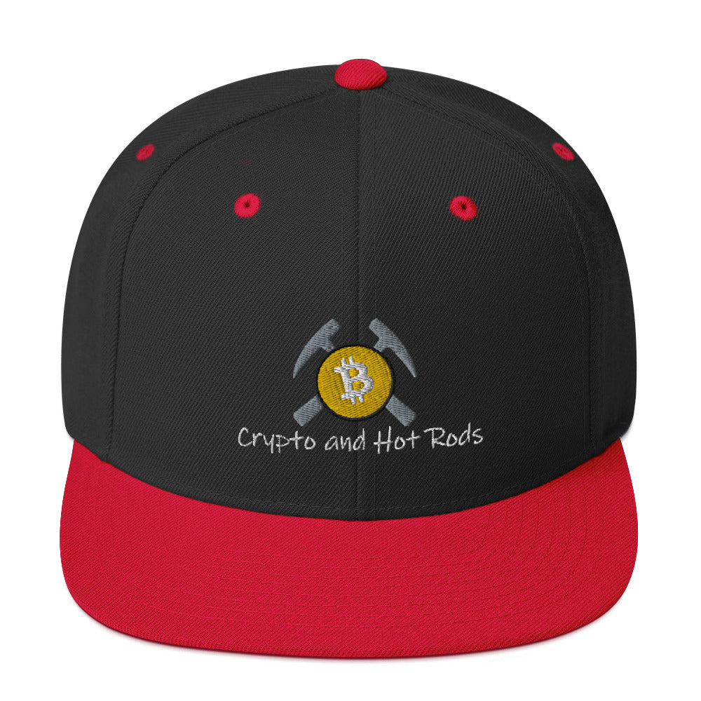Crypto and Hot Rods Snapback Hat