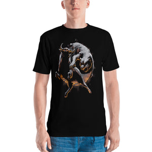 Market Battle: Bull & Bear Yin Yang Short sleeve Unisex Men's T-shirt