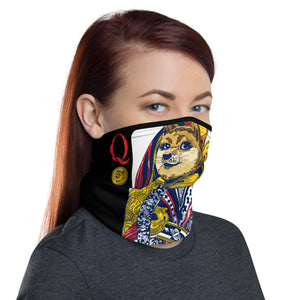 Queen of Doge Neck Gaiter