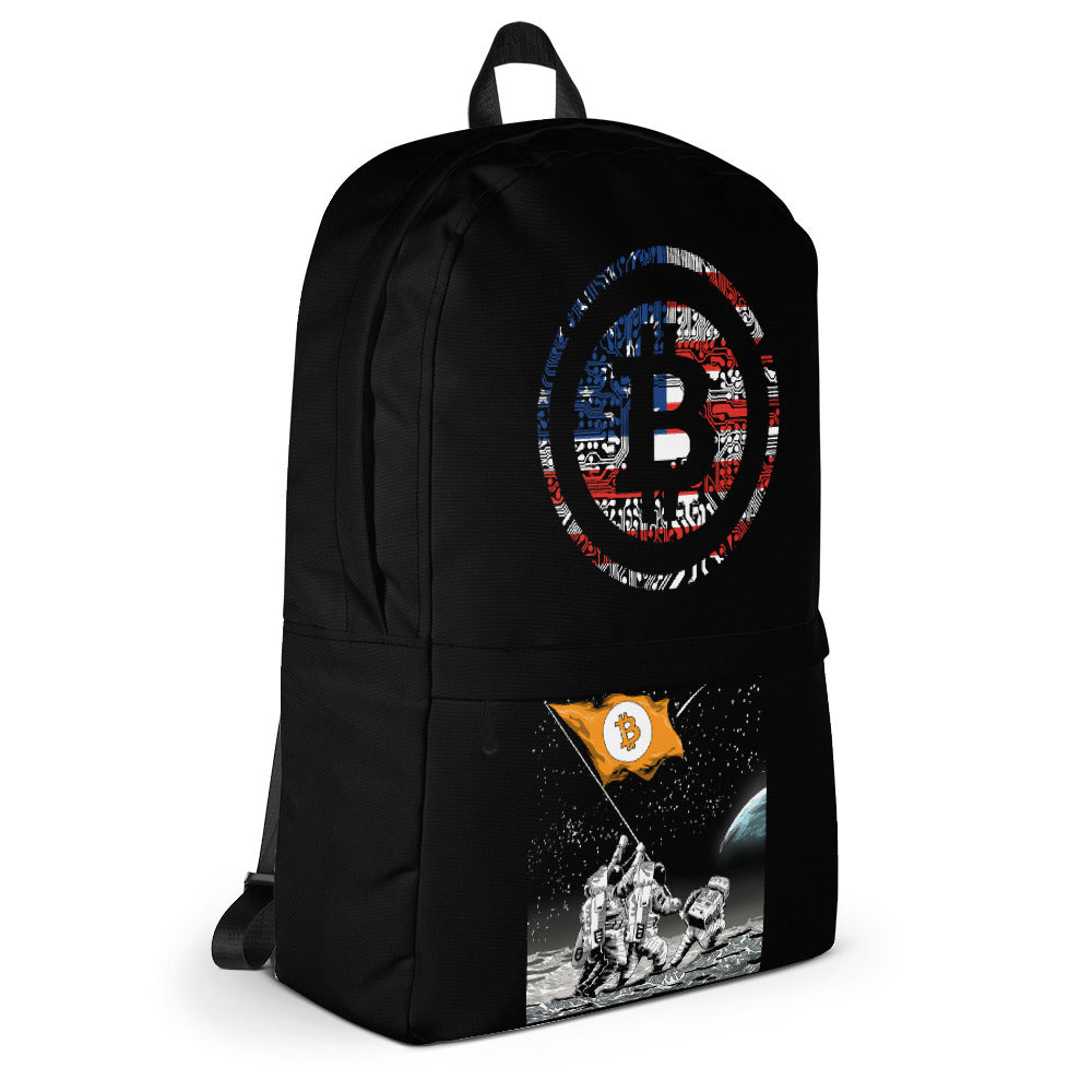 'Bitcoin Patriot to the Moon' Back to School Backpack