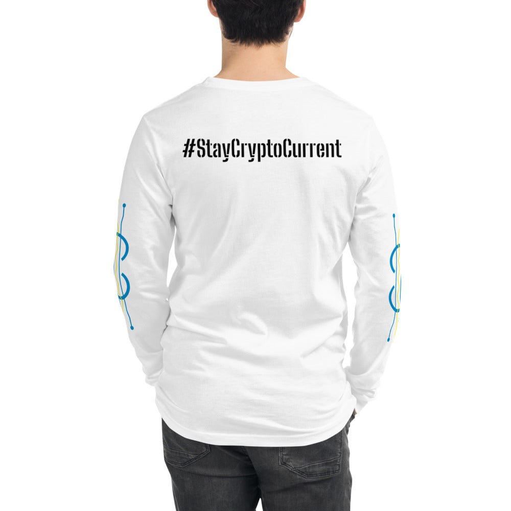 Crypto Current #StayCryptoCurrent Unisex Long Sleeve Tee