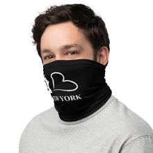 "Load image into Gallery viewer, Dr. ZEN ""I LOVE NEW YORK"" Neck Gaiter and Face Cover in Black"