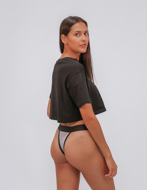 All Black G-String Thong