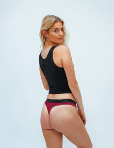 All Black Mesh Classic Thong