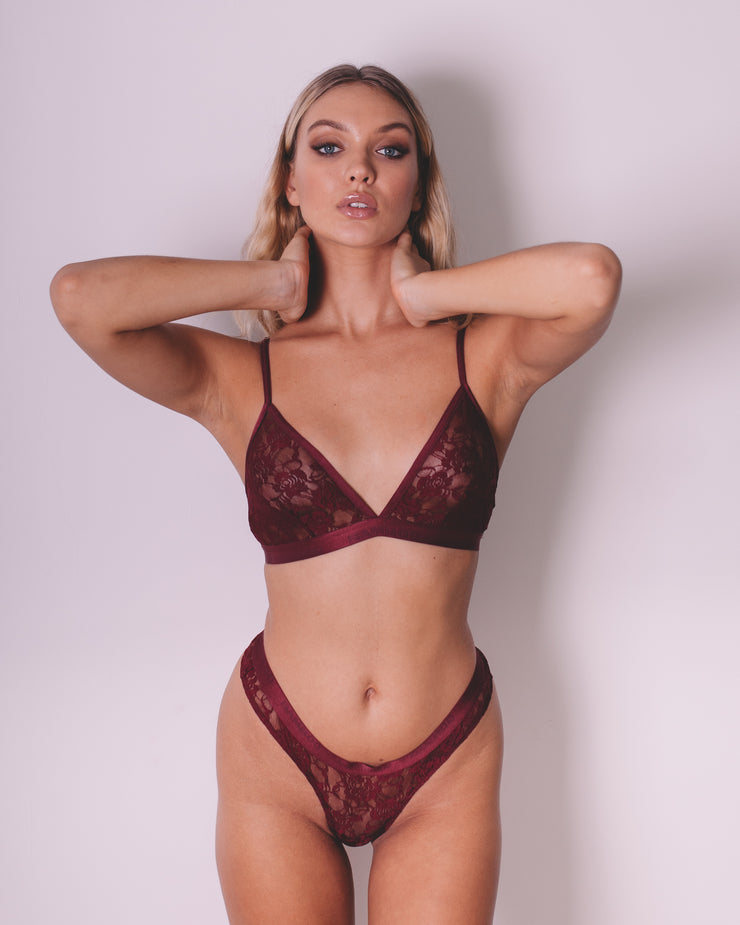Intimate Triangle Bralette & Thong