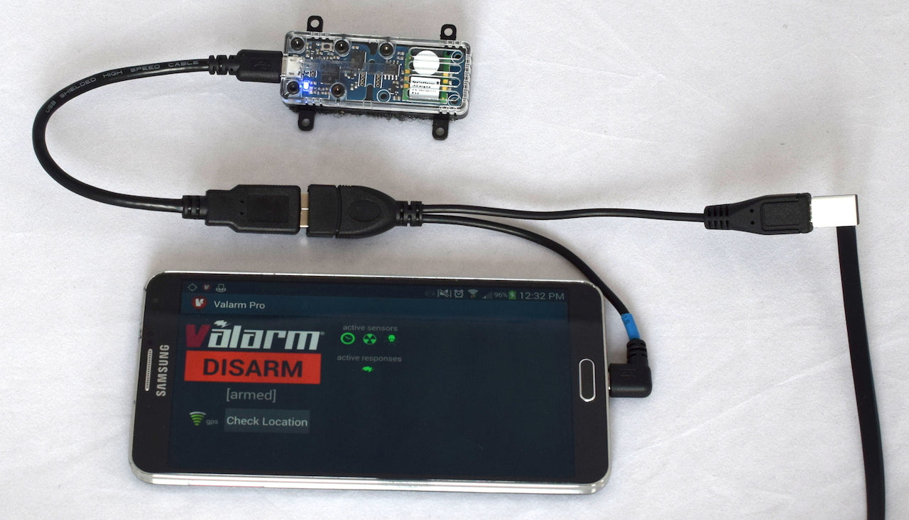 Industrial iot micro usb host otg y cable with micro usb power mobile remote rapidly deployable sensor monitoring solution using valarm pro app on a cheapraybanclubmaster Images