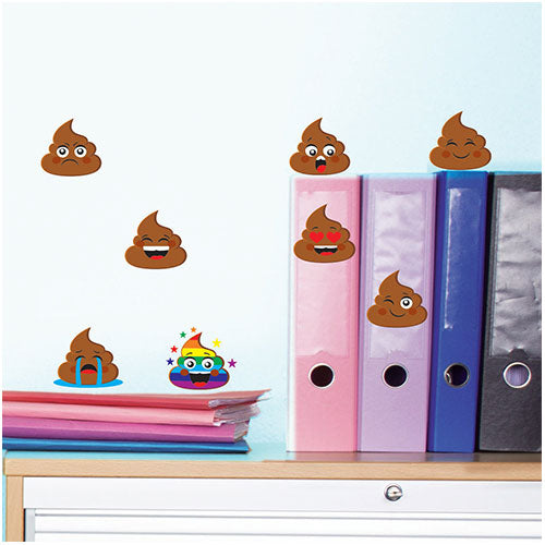 Emoji Poo Wall Decal