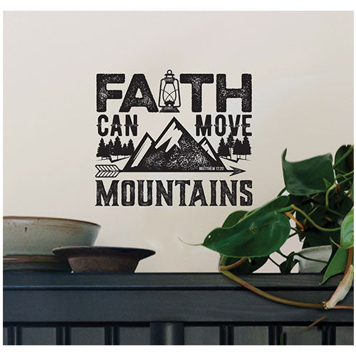 Faith Can Move Wall Decal