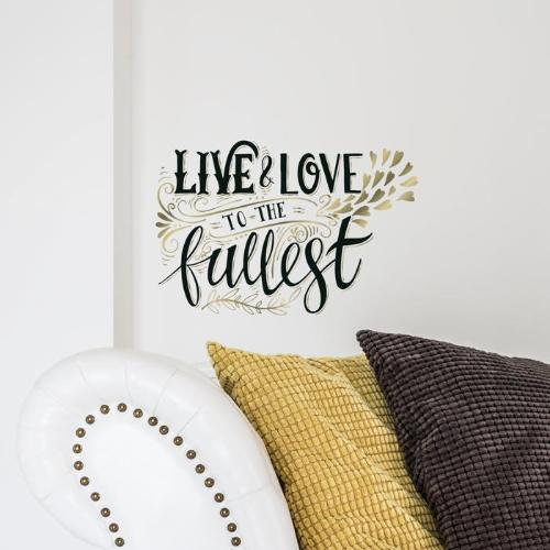 Live And Love Wall Decal