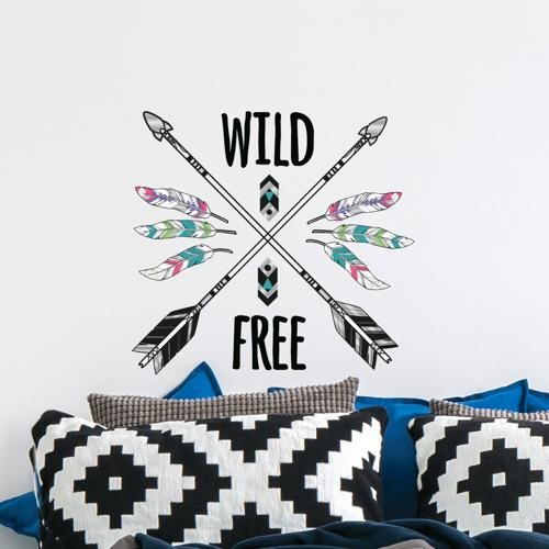 Wild and Free Wall Decal