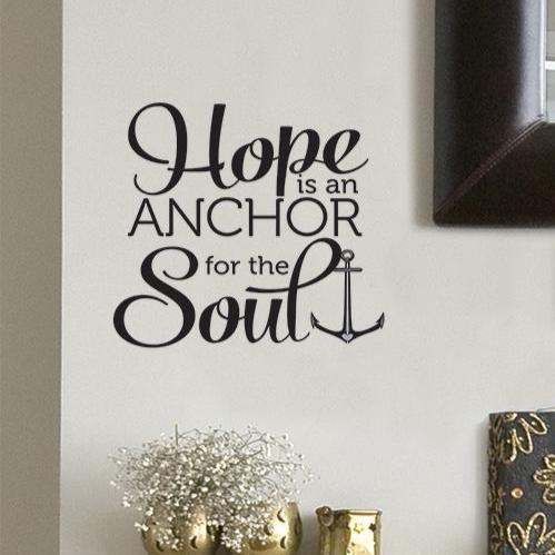 Hope Is an Anchor Wall Decal