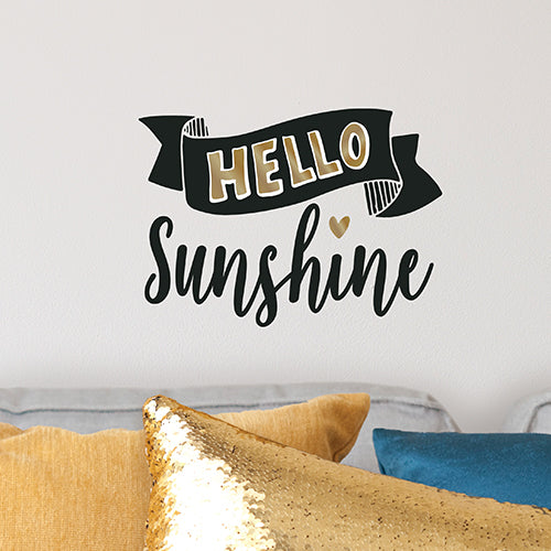 Hello Sunshine Wall Decal