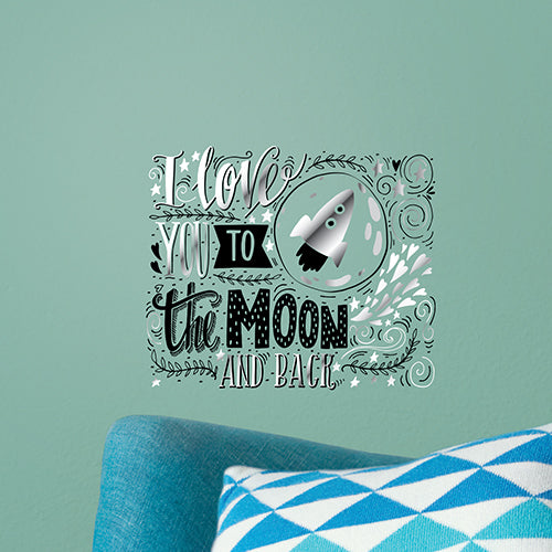 Love You To The Moon Wall Decal
