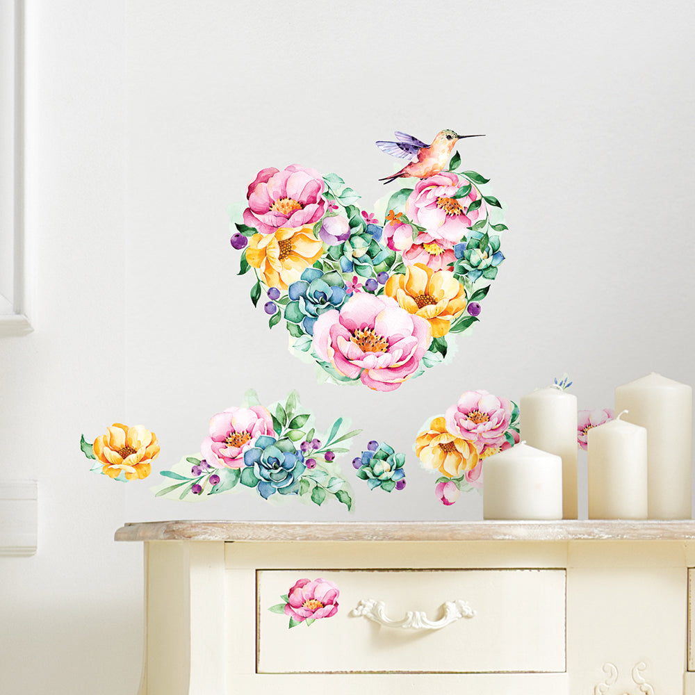 Watercolor Floral Wall Decal