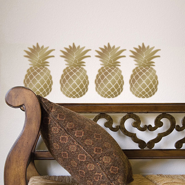 Golden  Pineapple Wall Decal