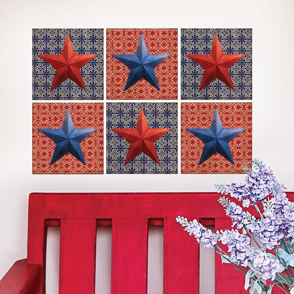 American Stars Wall Decal