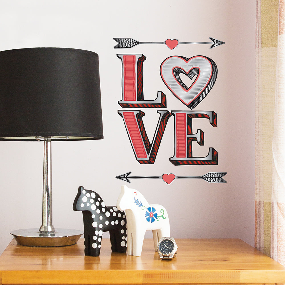 Americana Love Wall Decal