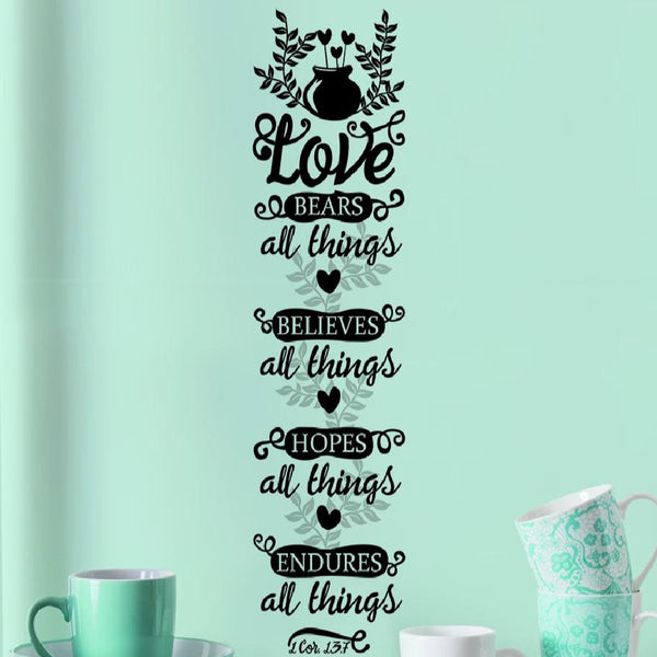 Love Bears All Things Wall Decal