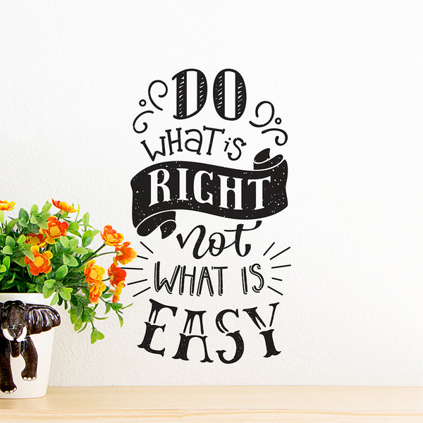 Do What's Right Wall Decal
