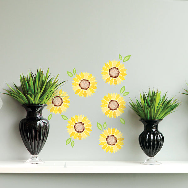 Graphic Sunflower Wall Decal