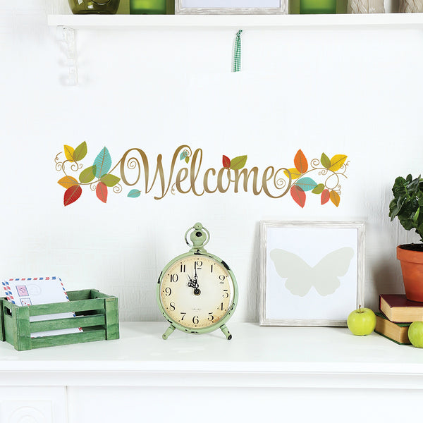 Welcome Vines Wall Decal