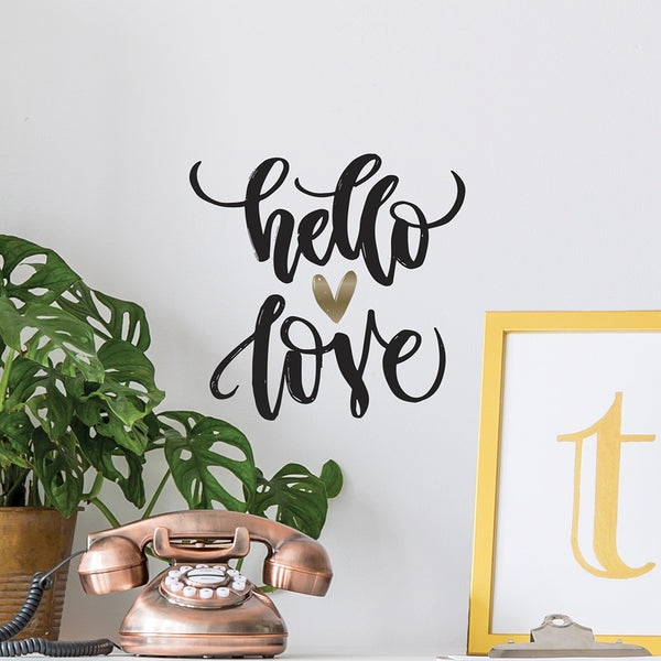 Hello Love Wall Decal