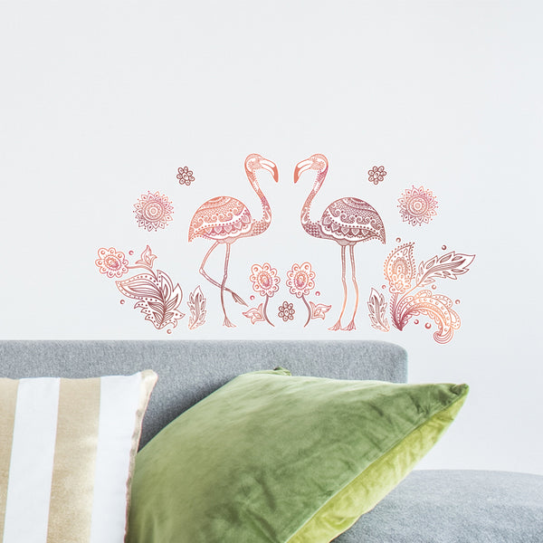 Doodle Flamingo Wall Decal
