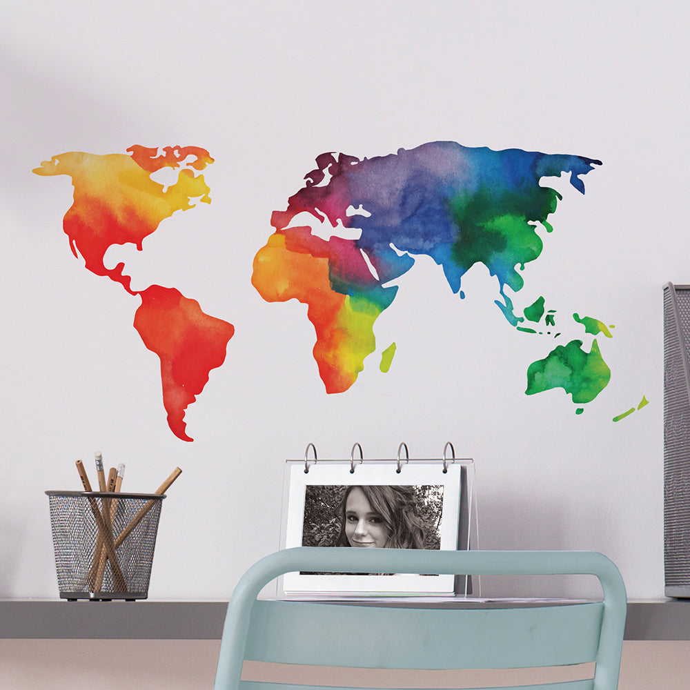 Rainbow World Wall Decal
