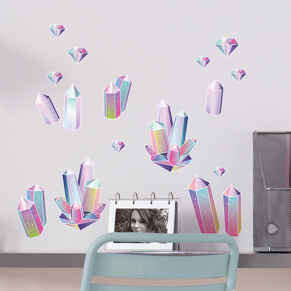 Rainbow Crystals Wall Decal
