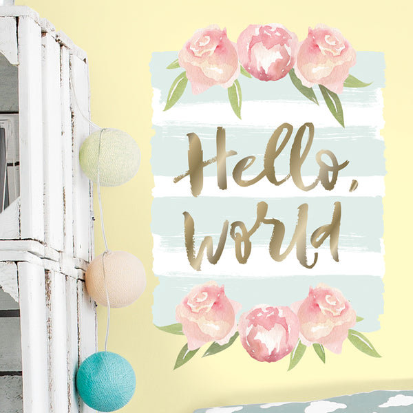 Hello World Wall Decal
