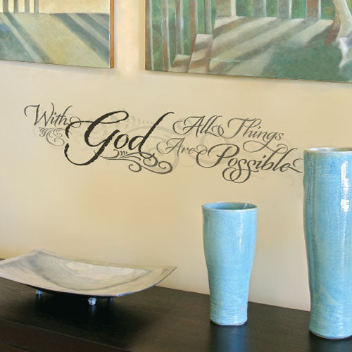 With God Wall Decal