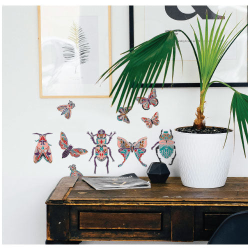 Geometric Insects Wall Decal