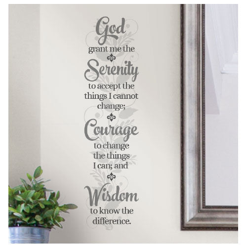 Serenity Prayer Wall Decal