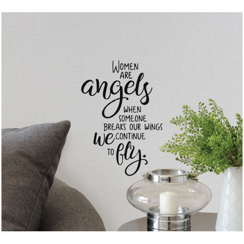 INSP Women are Angels Wall Decal
