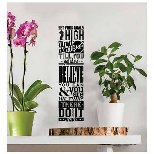 Set Your Goals High Wall Decal