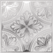 White Painted Silver Fleur Tile Decal