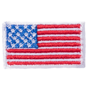 Embroidered American flag icon