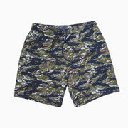Tiger Stripe Pocket Lounge Shorts - Navy / Olive / Brown / Grey.