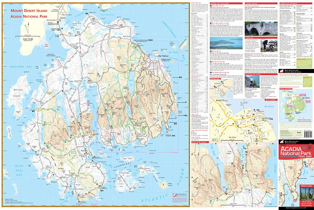 Ocean Park Maine Map.Acadia National Park Map Adventures