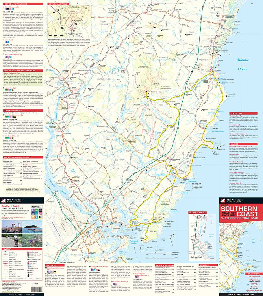 NEW- Maine Southern Coast - Map Adventures on bar harbor map, new orleans map, maine storm map, maine mall portland maine map, state of maine map, camden maine map, maine woods map, maine harbor map, maine desert map, maine western map, maine map with latitude and longitude, acadia maine map, maine bay map, midcoast maine map, maine north map, gorham maine street map, maine school districts map, maine oregon map, blue hill maine map, maine east map,