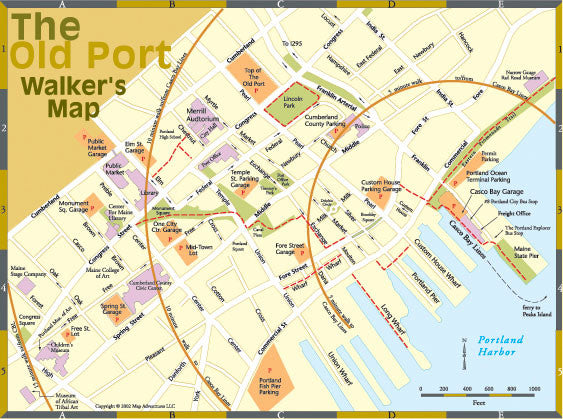 Map of the Old Port, Portland, Maine
