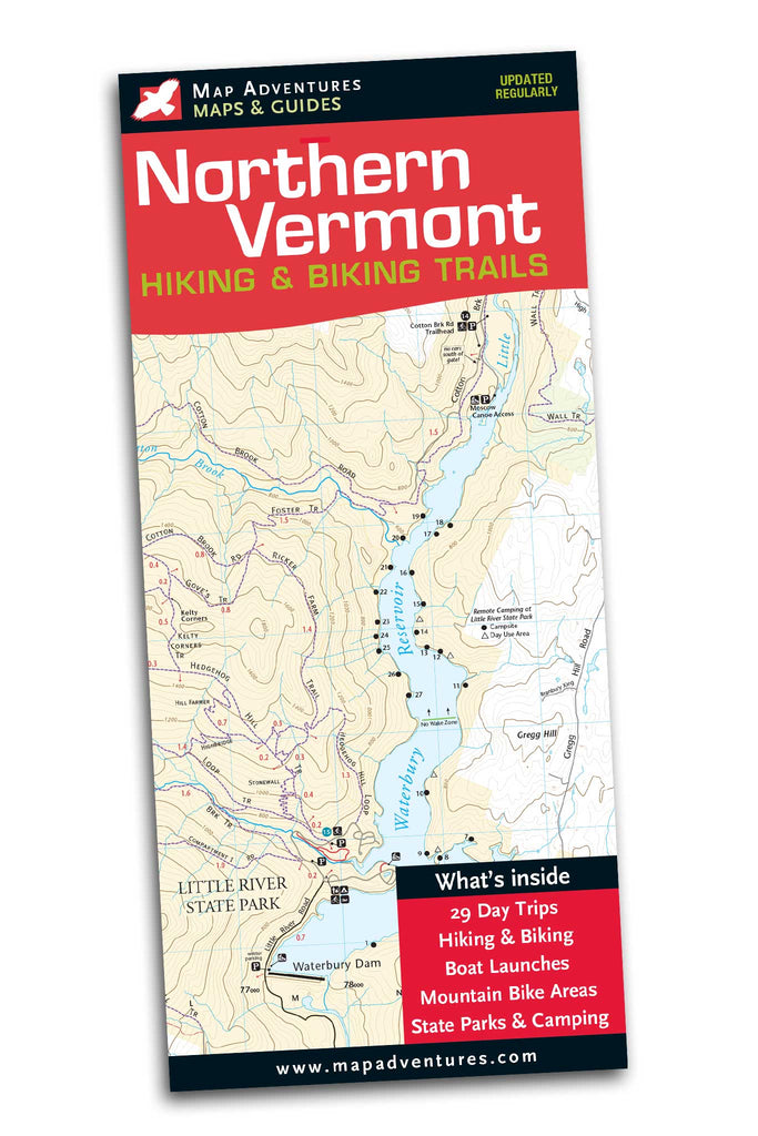 Northern Vermont Hiking Trails - Map Adventures