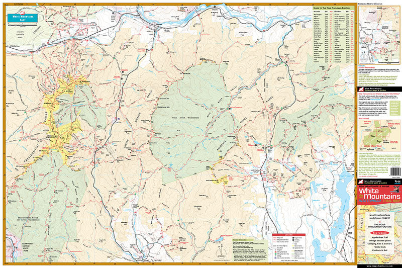 White Mountains Map White Mountains   Map Adventures